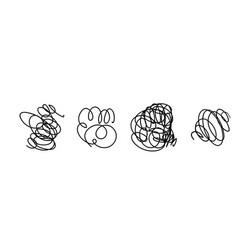 light set hand drawn scribble line vector image