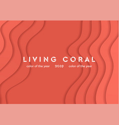 living coral corporate material waves abstract vector image