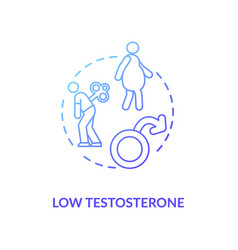 Low testosterone concept icon vector
