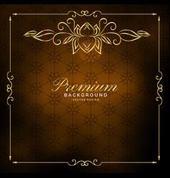 luxury premium golden vintage background design vector image