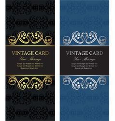 Luxury vintage cards vector image