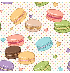 macarons pattern vector image