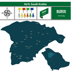 map of hail saudi arabia vector image