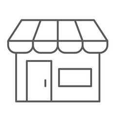 marketplace thin line icon shop and store market vector image