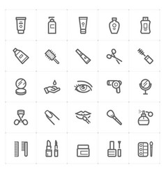 mini icon set - cosmetic icon vector image
