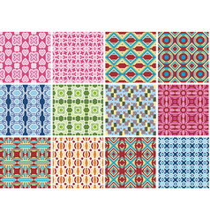 modern geometric seamless pattern background vector image