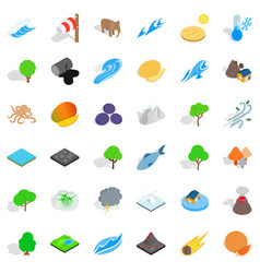 Planet earth icons set isometric style vector