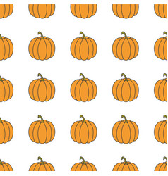 Pumpkin hand drawn on white background hand drawn vector