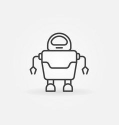 Robot concept icon or logo element in thin line vector