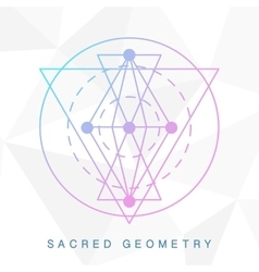 Sacred geometry sign Linear Modern Art vector image vector image