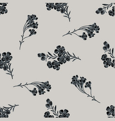 Seamless pattern with hand drawn stylized wax vector