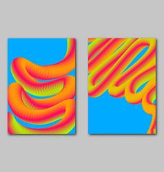 Set futuristic bright covers modern dynamic 3d vector