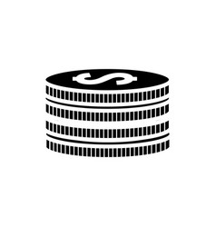 Silhouette metal coins money save vector