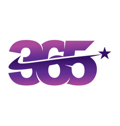 Star swash 365 infinity logo icon design vector