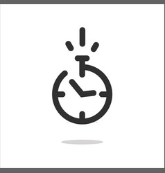 stopwatch icon or timer pictogram with fast time vector image