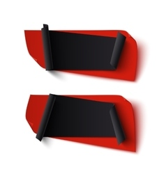 Two black and red abstract banners vector image