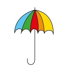 umbrella drawing cute icon vector image