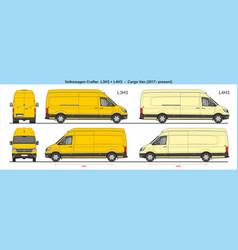 Volkswagen crafter van l3h3 and l4h3 2017-present vector
