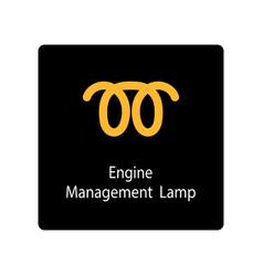 warning dashboard car icon engine management lamp vector image