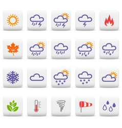 Weather and seasons icons vector image