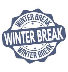 winter break sign or stamp vector image