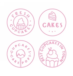 Bakery cake cafe badges vector image vector image