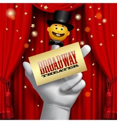 Broadway poster vector image