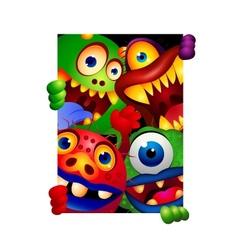 Funny monster cartoon vector image vector image