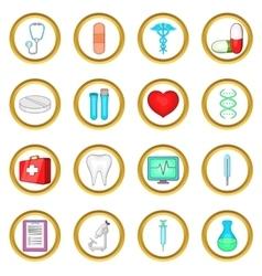 Medical set cartoon style vector image
