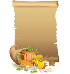 Retro background Thanksgiving vector image vector image