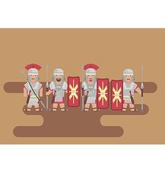 Roman legion soldier flat graphic vector