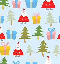 Christmas and new year Seamless pattern Santa vector image vector image