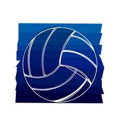 Color background with volleyball ball in white vector