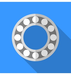 Colorful bearing icon in modern flat style with vector image vector image