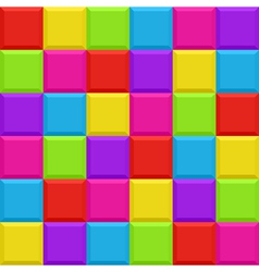 Multicolored blocks seamless background pattern vector image vector image