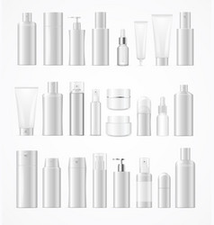 realistic template blank white big cosmetic vector image vector image