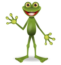 very cheerful frog vector image vector image