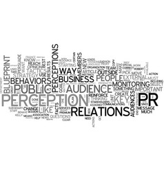 a great way to do pr text word cloud concept vector image