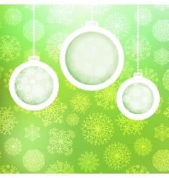 Christmas balls with snowflakes EPS8 vector image