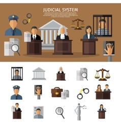Judical System Banner vector image vector image