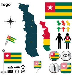 Togo map vector image