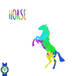 Abstract Colorful Horse Silhouette vector image vector image