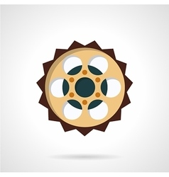 Chain sprocket flat color icon vector image
