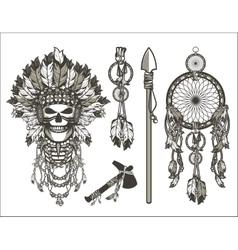 dead chief designer set vector image