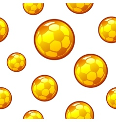 Gold football soccer seamless background vector image