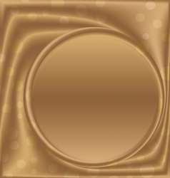 Gold picture frame bottom of the circle vector