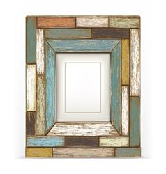 Old vintage wood frame vector image vector image