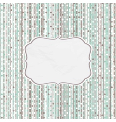 Retro Dots Pattern Card vector image vector image
