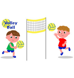 volley ball players vector image vector image