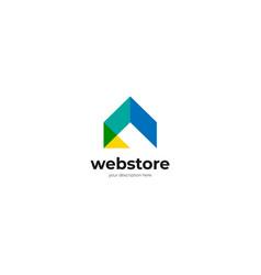 abstract internet mobile icon logo design template vector image
